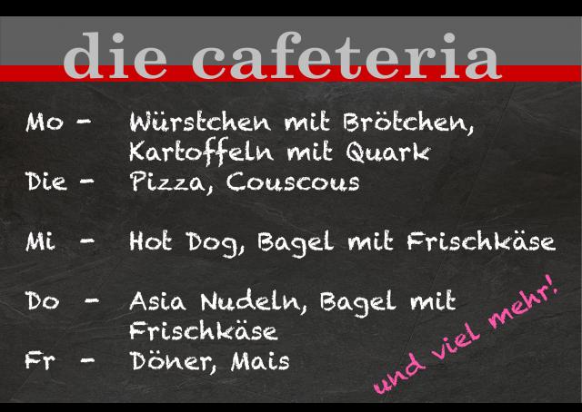 WvS Cafeteria Wochenmenue