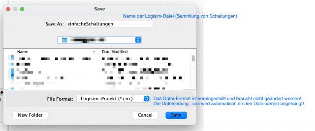 Immer zuerst eine logisim-Datei sichern!