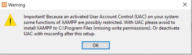 Wichtiger Hinweis. Deshalb bitte in C:\xampp installieren! Wird im weiteren Verlauf angezeigt