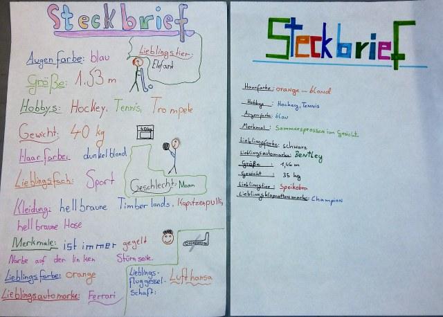 Auch das Erstellen von Steckbriefen will gelernt sein! SchülerInnen können damit strukturiert Informationen präsentieren.